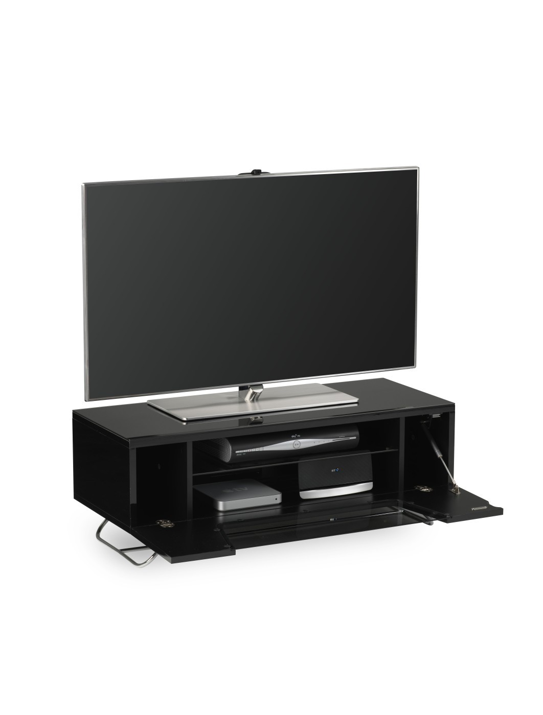 black glass tv stand assembly instructions
