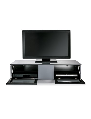 TV Stand Element Modular EMTMOD1250-WHI White TV Stand with Glass Top