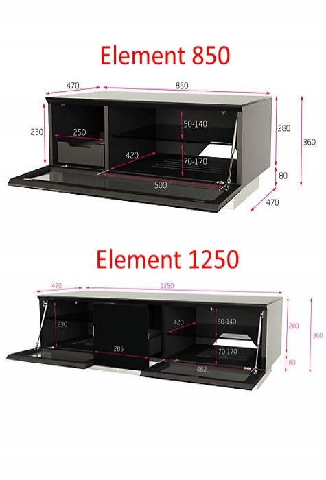 Alphason EMTMOD2100-GRY Element Modular TV Stand