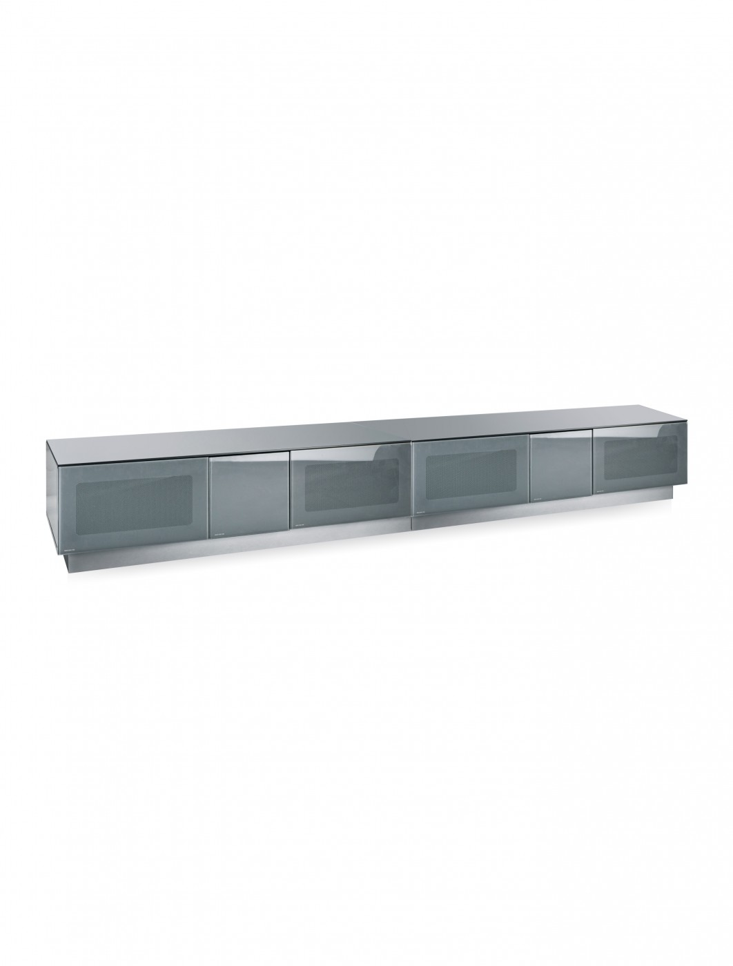 TV Stand Element Modular EMTMOD2500-GRY Grey TV Stand with Glass Top