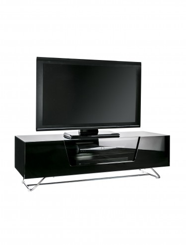 TV Stand Alphason CRO2-1200CB-BLK Chromium - Black