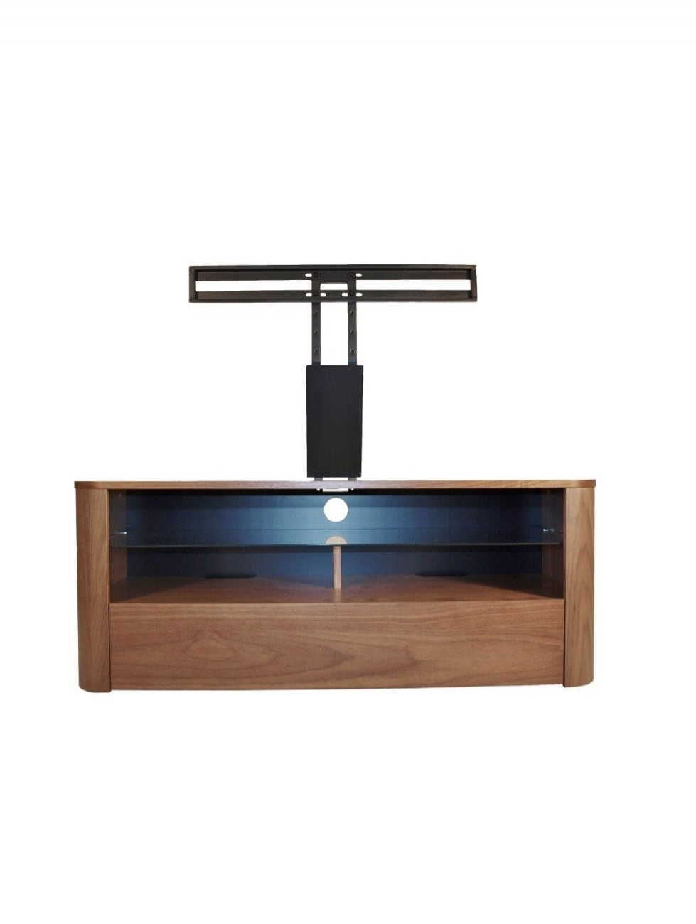 Alphason Hugo TV Stand ADH1260-W Walnut with Bracket