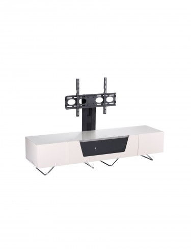 Alphason CRO2-1600BKT-IV Chromium TV Stand inc TV Bracket - Ivory