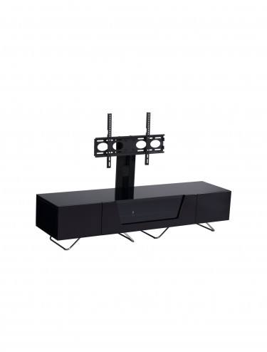 Alphason CRO2-1600BKT-BK Chromium TV Stand inc TV Bracket - Black