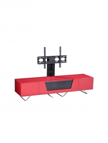 Alphason CRO2-1600BKT-RE Chromium TV Stand inc TV Bracket - Red