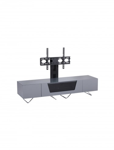 Alphason CRO2-1600BKT-GR Chromium TV Stand inc TV Bracket - Grey