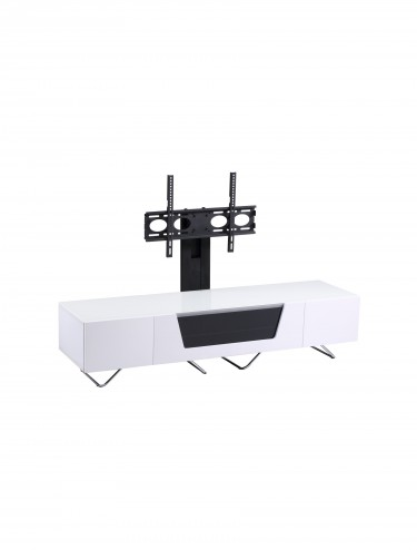 Alphason CRO2-1600BKT-WH Chromium TV Stand inc TV Bracket - White