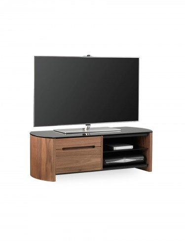 TV Stands - Alphason FW1100CB-W/B Finewoods TV Stand in Walnut