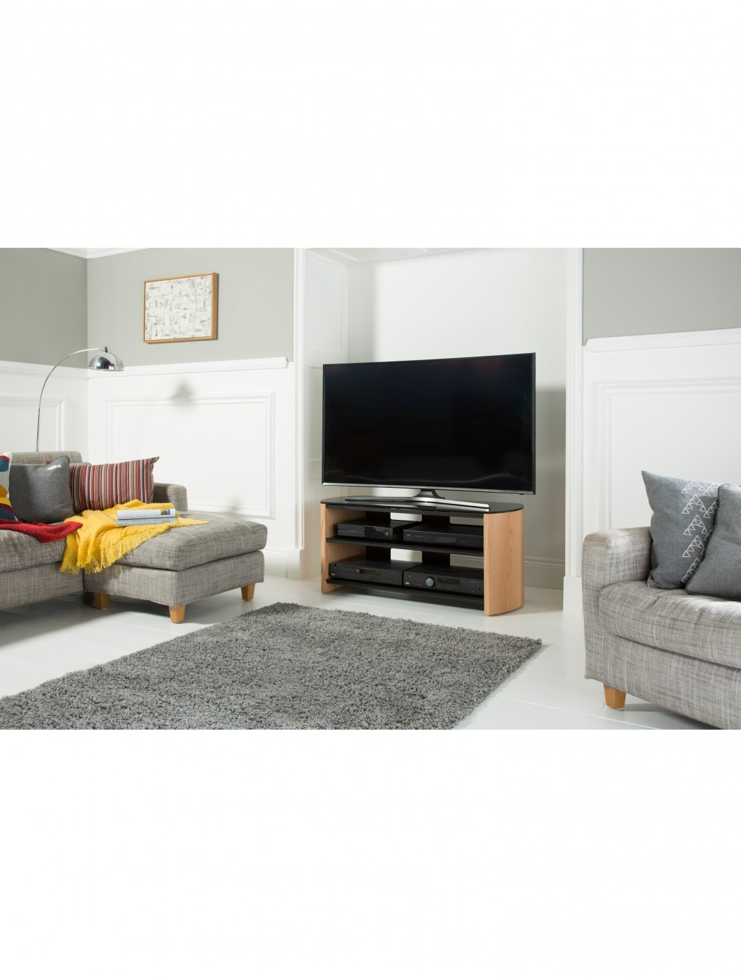 Alphason FW1100-LO/B Finewoods TV Stand