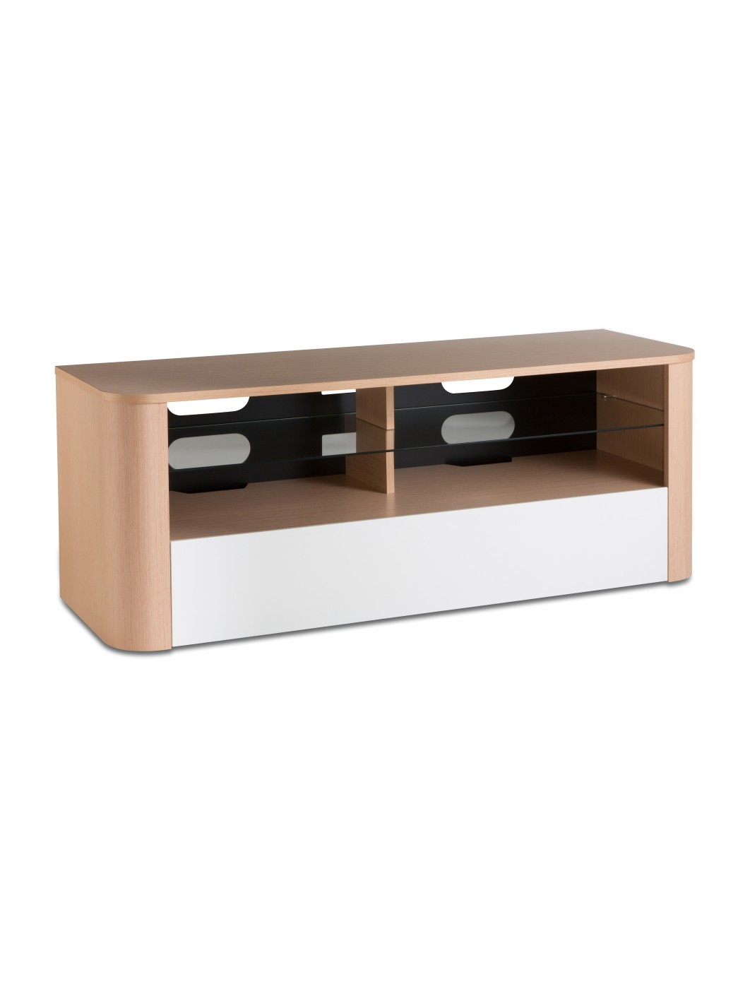 Alphason Hugo TV Stand ADH1260-WHI in Light Oak and White