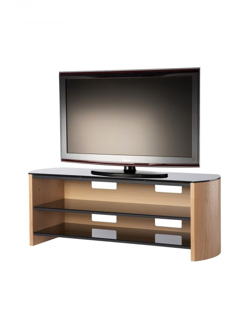 TV Stands - Alphason Finewoods FW1350-LO/B TV Stand in Light Oak