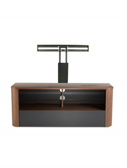 Alphason Hugo TV Stand ADH1260-BLK in Walnut and Graphite with Bracket