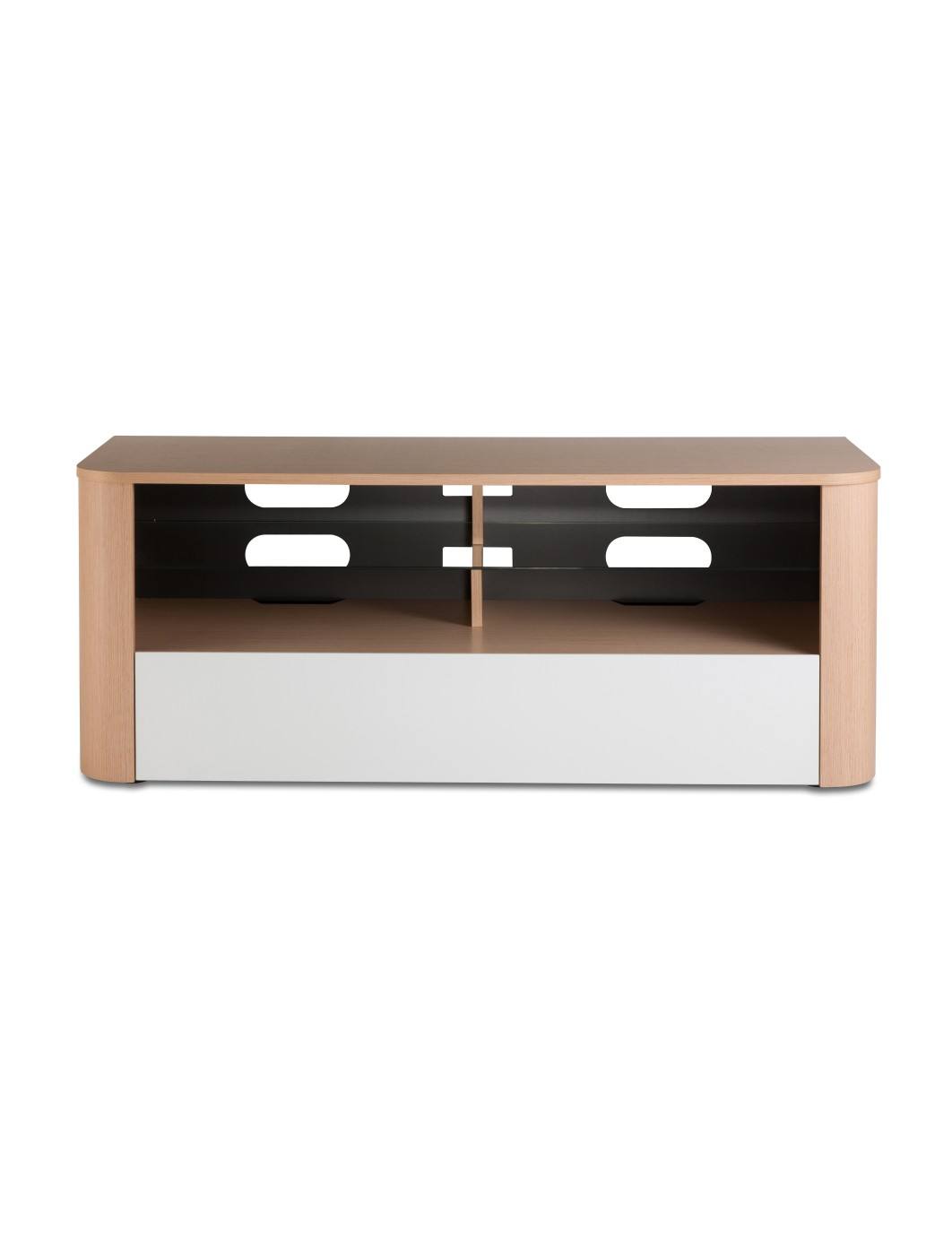 Alphason Hugo TV Stand ADH1260-WHI in Light Oak and White with Bracket