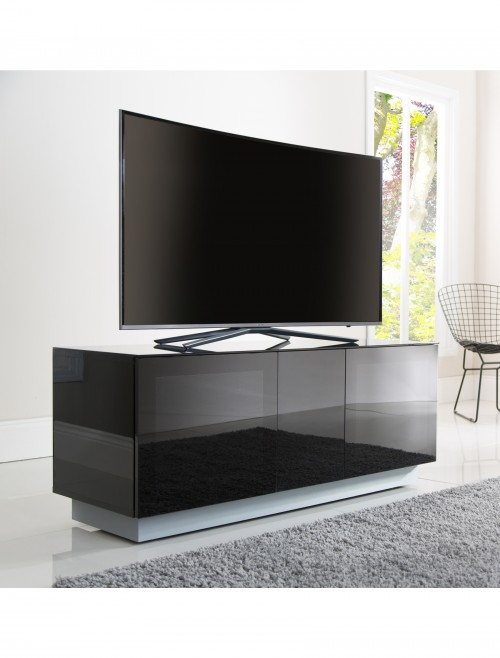 Alphason Element Modular 1250XL Glass Top TV Stand EMT1250XL-BLK