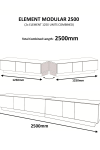 Alphason EMTMOD2500-WHI Element Modular TV Stand - enlarged view