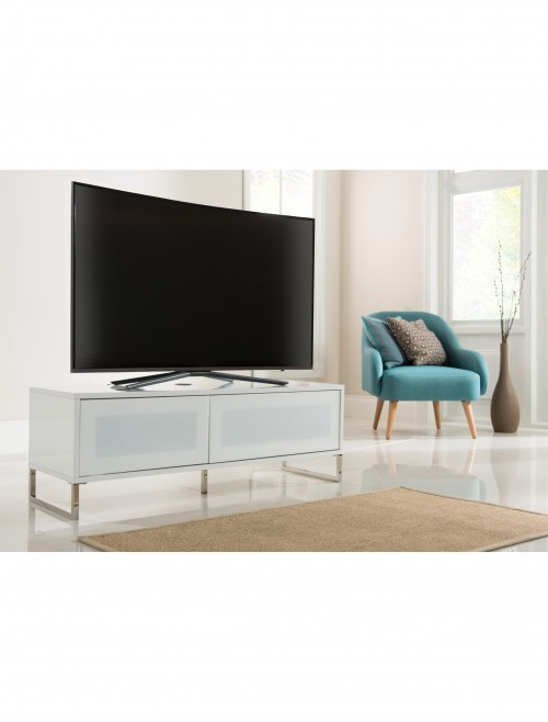 Alphason Helium 1200mm TV Stand ADHE1200-WHI in White