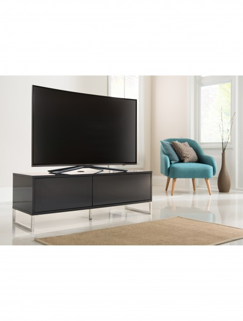 Alphason Helium 1200mm TV Stand ADHE1200-BLK in Black