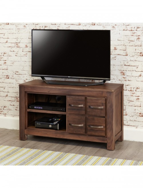 TV Stand Four Drawer Baumhaus Mayan Walnut CWC09D