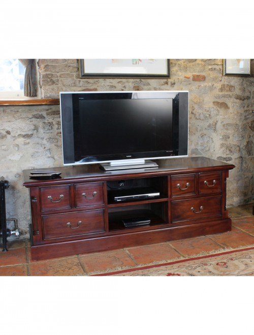 Widescreen TV Stand Baumhaus La Roque Mahogany IMR09A