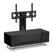 Black Chromium 1000mm TV Stand with Bracket