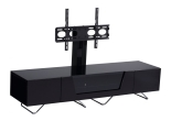 Black Chromium 1600mm TV Stand with Bracket