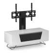 White Chromium 1200mm TV Stand with Bracket