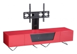 Chromium 1600mm Red TV Stand with Bracket
