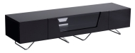 Black Chromium 1600mm TV Stand