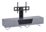 Grey Chromium 1600mm TV Stand with Bracket
