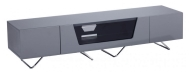Grey Chromium 1600mm TV Stand