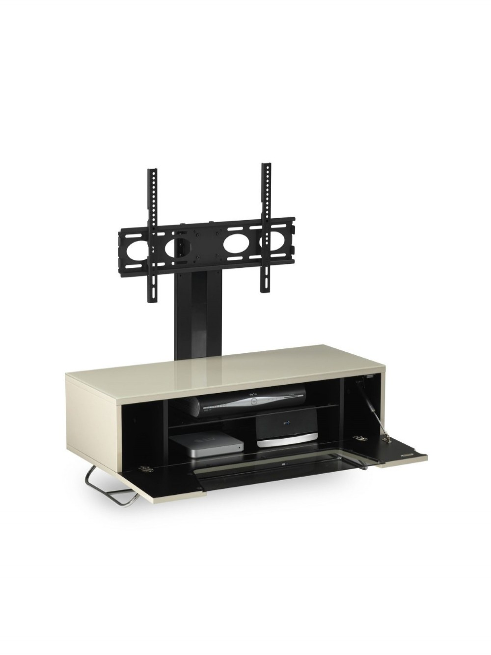Alphason CRO2-1200BKT-IV Chromium TV Stand inc TV Bracket - Ivory