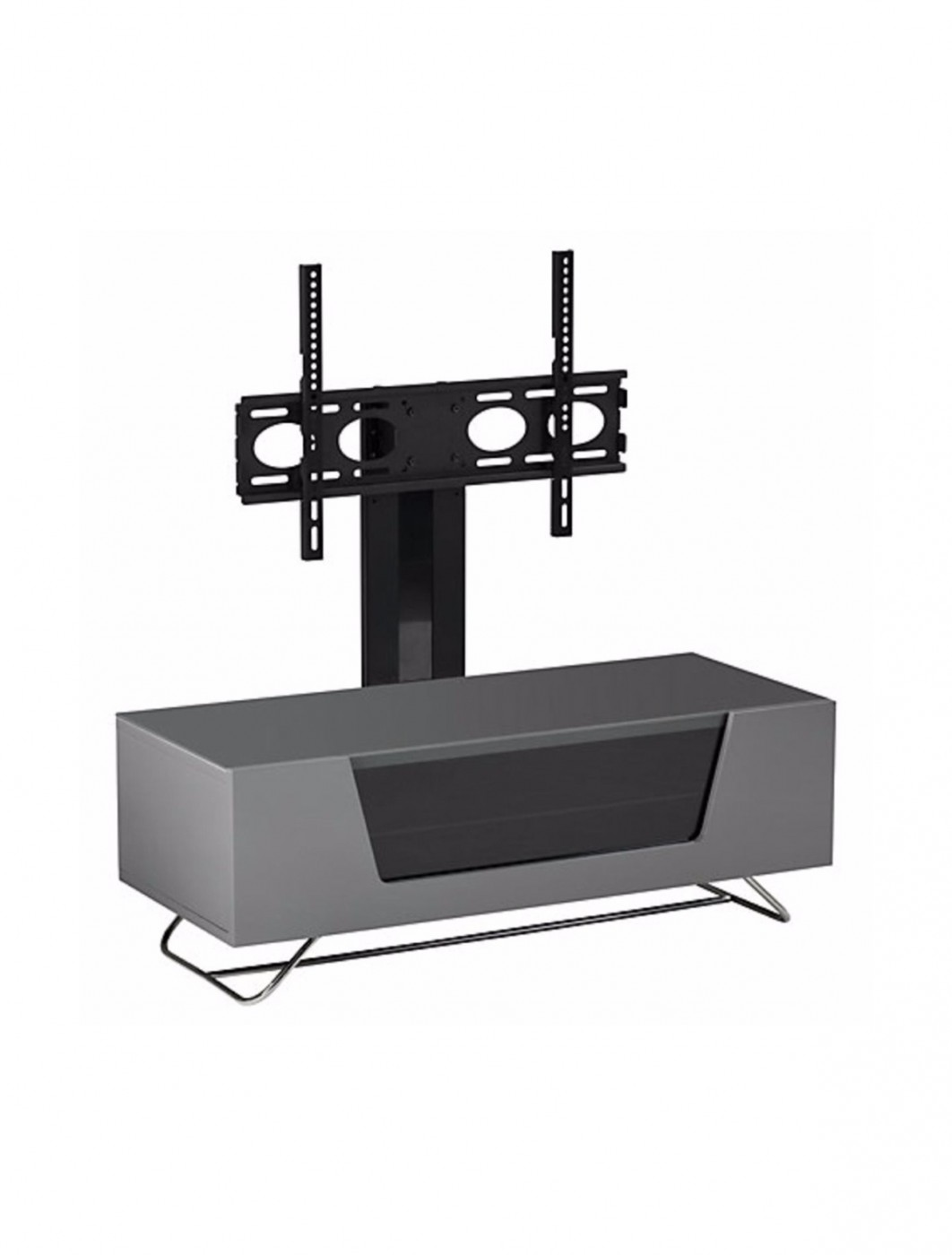 Alphason CRO2-1200BKT-GR Chromium TV Stand inc TV Bracket - Grey