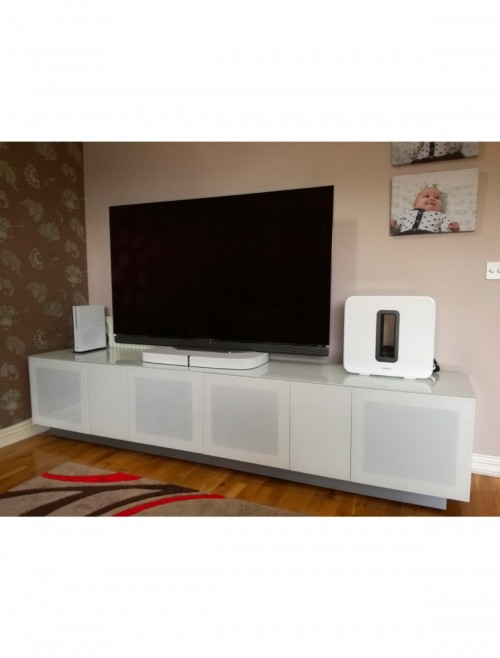 White TV Stand Element 2500XL Modular TV Cabinet EMT2500XL-WHI
