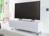 Chromium Concept White TV Stand