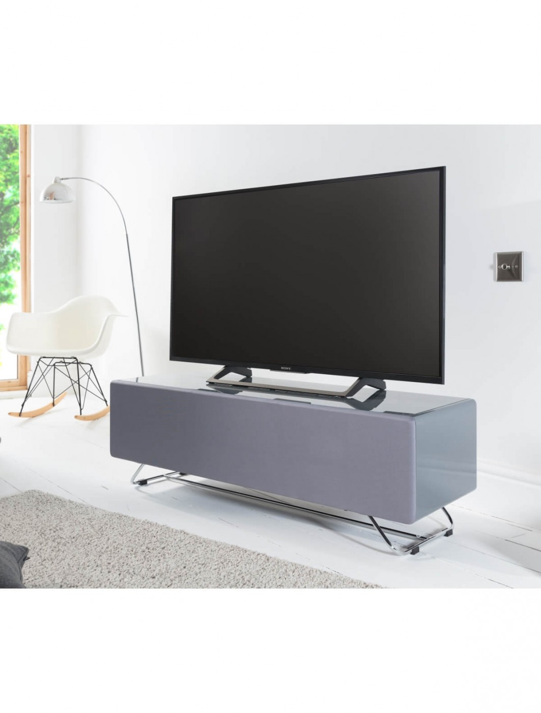 TV Stands - Chromium Concept 1200mm Grey TV Stand CRO2-1200CPT-GR