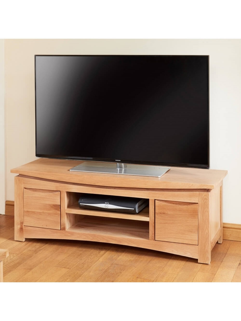 tv stands roscoe oak wide tv stand cns09b by baumhaus