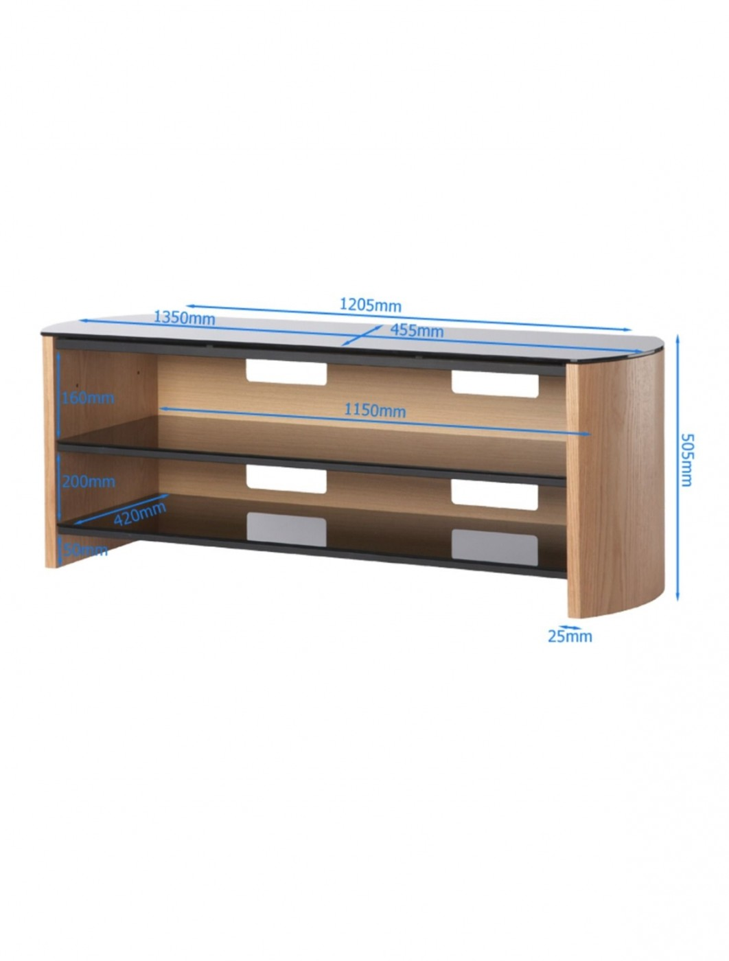 Alphason Finewoods FW1350-LO/B TV Stand