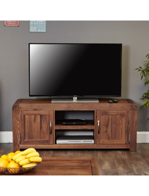 Walnut Widescreen Television Cabinet 2 Doors