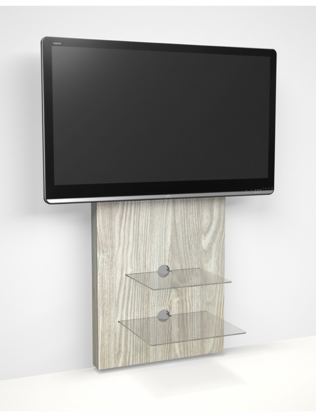 TV Stands Mercury Oak TV Stand with Bracket ADME/2S-LO