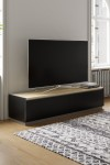 TV Stand Black Horizon TV Cabinet ADHO1600 by Alphason - enlarged view