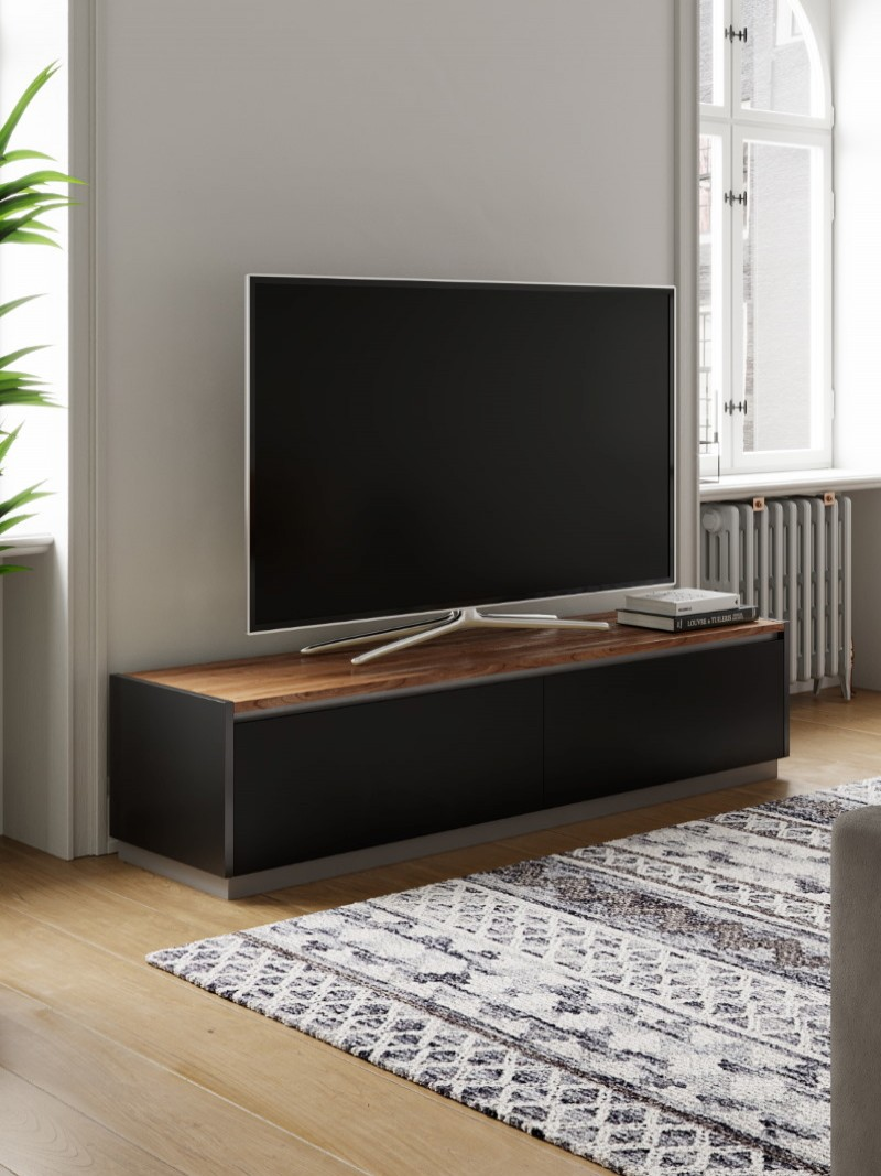 TV Stand Black Horizon TV Cabinet ADHO1600 by Alphason
