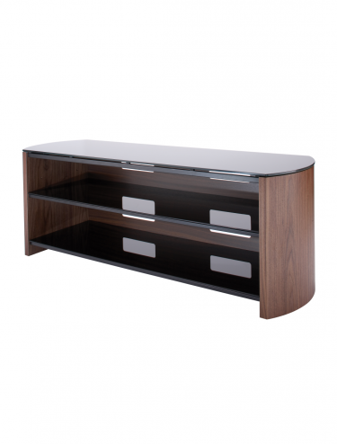 TV Stands - Alphason Finewoods FW1350-W/B TV Stand in Walnut