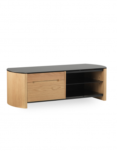 TV Stands - Alphason FW1100CB-LO Finewoods TV Stand in Light Oak