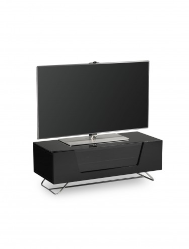 Alphason Chromium 2 TV Stand in Black CRO2-1000CB-BLK