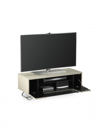 Alphason Chromium 2 TV Stand in Ivory CRO2-1000CB-IVO