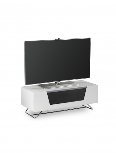 Alphason Chromium 2 TV Stand in White CRO2-1000CB-WHT