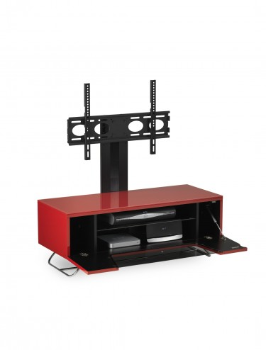 Alphason CRO2-1000BKT-RE Chromium TV Stand inc TV Bracket - Red