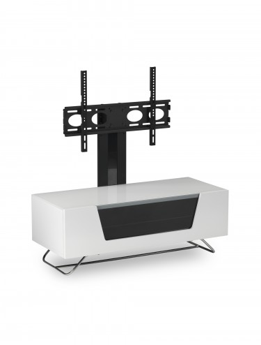 Alphason CRO2-1200BKT-WH Chromium TV Stand inc TV Bracket - White