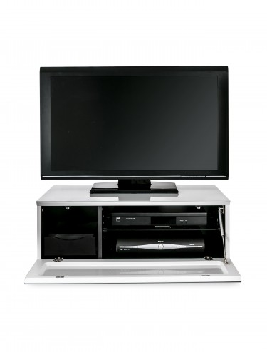 TV Stand Element Modular EMTMOD850-WHI White TV Stand with Glass Top