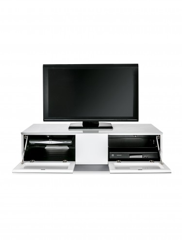Alphason EMTMOD1250-WHI Element Modular Glass Top TV Stand